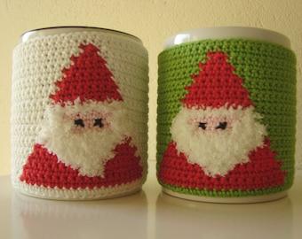 Crochet Pattern Santa Mug Cozy Crochet Pattern Christmas Etsy