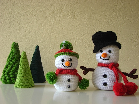 Sneeuwpop Haken Amigurumi Boom Haakpatroon Kerstboom Etsy