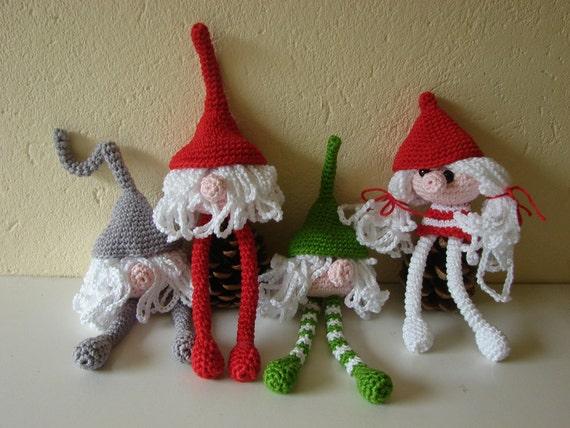 Crochet Pattern Gnomes Crochet Pattern Fairy Figure Etsy