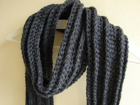 Crochet Pattern Chunky Scarf Crochet Mens Scarf Crochet Bulky