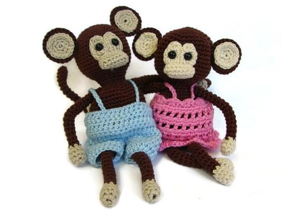 Häkeln Muster Affe häkeln Muster Affe mit Hose und Kleid | Etsy