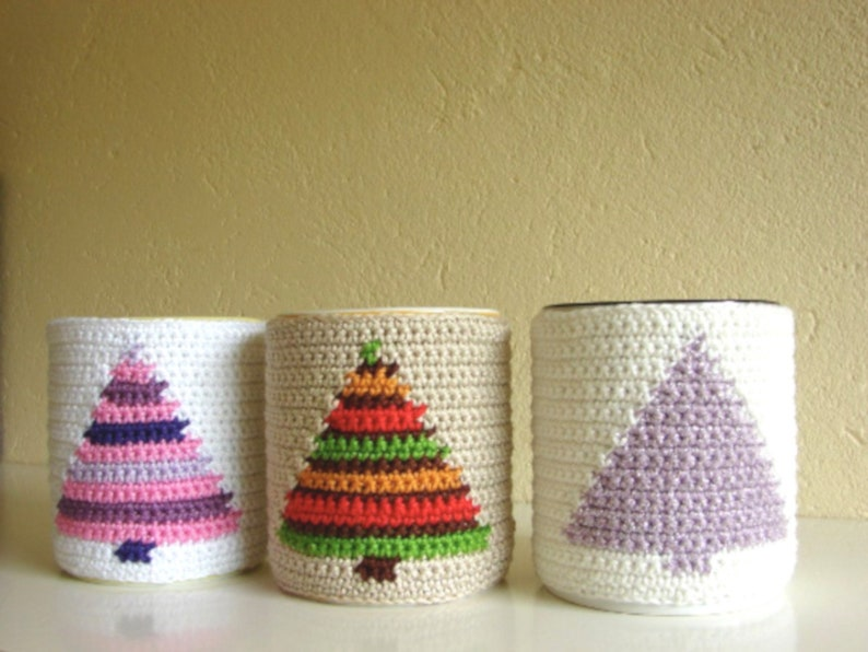 Crochet Pattern Christmas Tree Mug Cozy Crochet Pattern Etsy