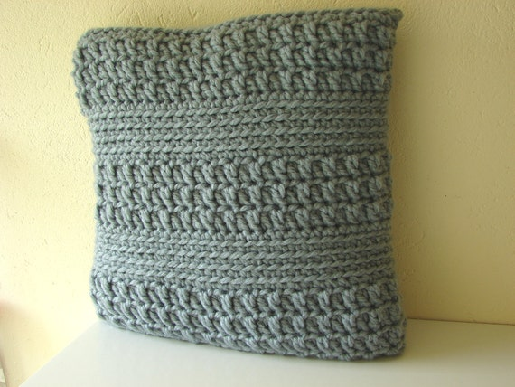 Chunky Cushion Cover Pattern Bulky Yarn Striped Pillow Etsy