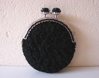 Coin purse crochet pattern | Black rose coin purse | pattern kitty | crochet little wallet | crochet accessory | luxurious gift pattern
