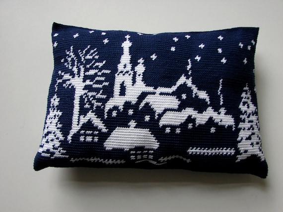 Haakpatroon Kussen Winter Wonderland Sierkussen Kerst Etsy