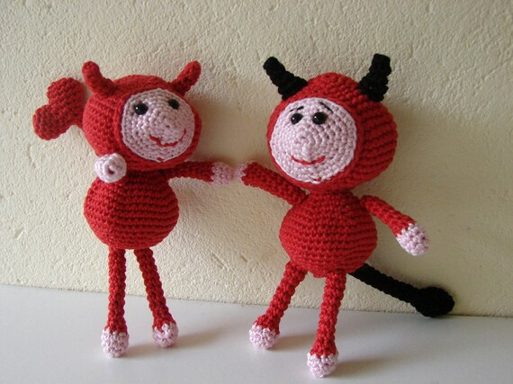 Liebe Teufel Häkelanleitung Amigurumi Teufel häkeln Muster | Etsy