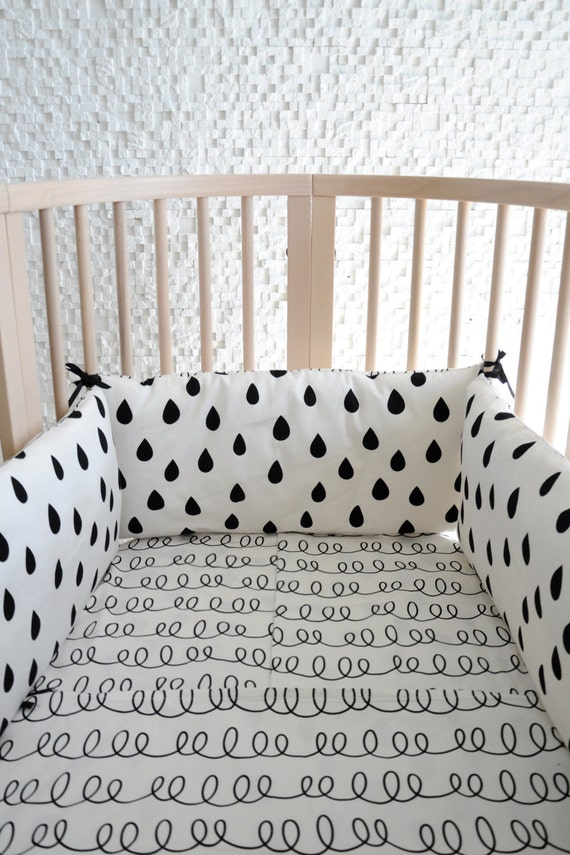 Bumper für Kinderbett-Babybett Bettwäsche Babybett | Etsy