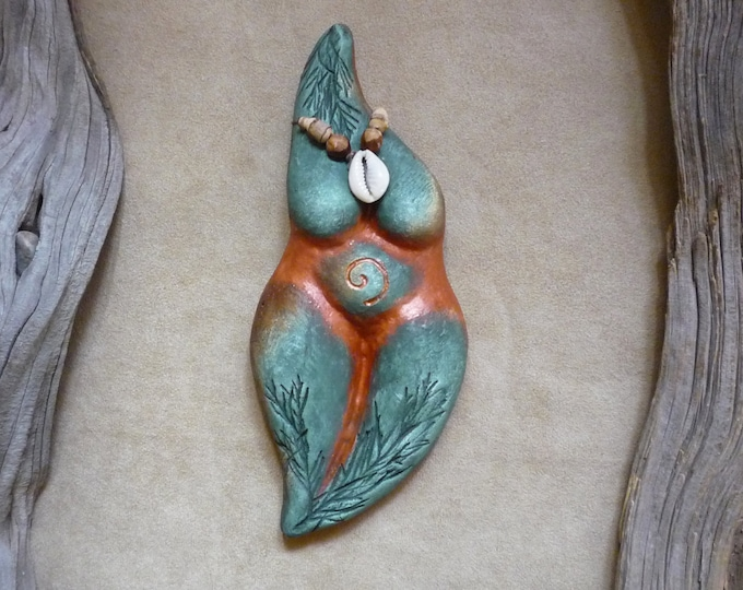Earth Mother Goddess totem + Gaia + wall or altar, women's circle