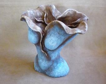 Awakening Woman, stoneware clay, mixed media, Sacred Divine Feminine