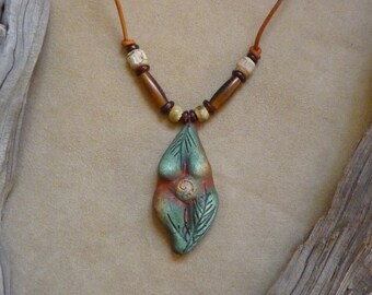 Gaia Mother Earth Goddess pendant on adjustable leather cord + yoga jewelry made in the USA