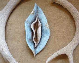 Sacred Feminine Yoni sculpture + Divine feminine yoni goddess art for womb blessing altar