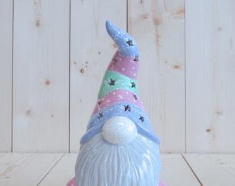Garden Gnome Lantern - Spring Gnome