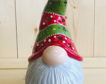 Christmas Garden Gnome Lantern