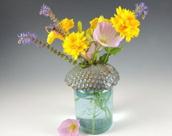 PRETYZOOM 2Pc Glasses Frog Holder Plastic Flower Arrangement Holder Home Flower Art Prop- Transparent