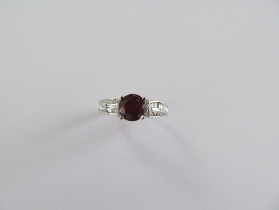 Vintage Ruby and Diamond Ring - image 2