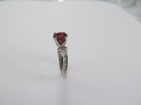 Vintage Ruby and Diamond Ring - image 3
