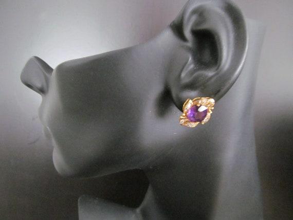Vintage Amethyst and Diamond Earrings - image 6