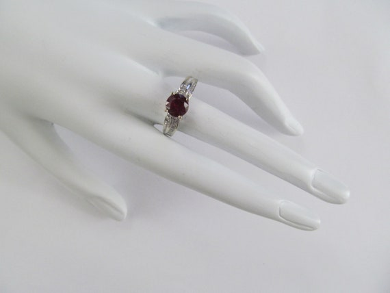 Vintage Ruby and Diamond Ring - image 5