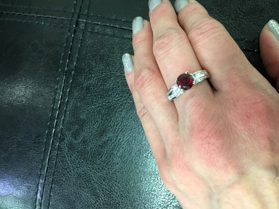 Vintage Ruby and Diamond Ring - image 1