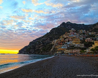 Wall Art 40% off Digital Download Positano Italy Sunset Fine Art Landscape Photography -Instant Digital Download Printable Explore Travel