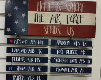 Home Is Where The Army, Air Force, Coast Guard, Marine Corps, Navy Sends Us!