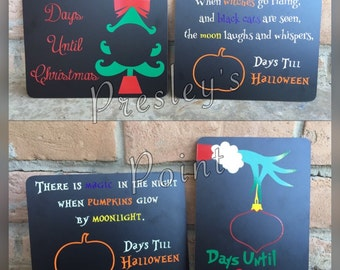 Holiday Countdown Chalkboards-Doublesided!!!