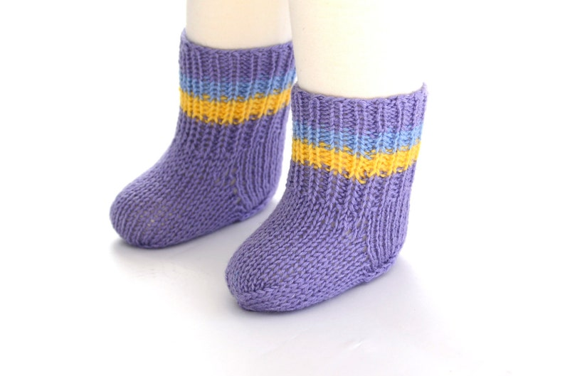 Ready to Ship Hand Knit Socks /& Booties Set for Baby Lavender Wool 0-6 Months