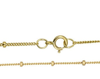 20 with spring ring Gold Filled GF Item # 20605-16-SFN Space Satellite Chain 16 18