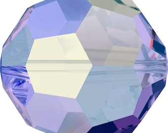 Swarovski Crystal Round Beads 5000 -  4mm 6mm 8mm - Sapphire AB 2X