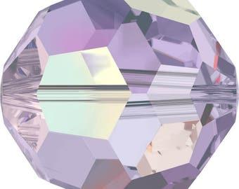 Swarovski Crystal Round Beads 5000 -  4mm 6mm 8mm - Violet AB 2X