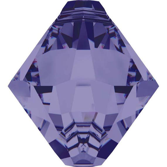 swarovski kristall 6328 bicone oben gebohrt tansanit 6mm. Black Bedroom Furniture Sets. Home Design Ideas