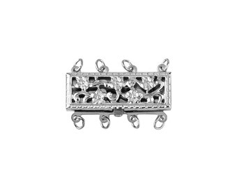 Multistrand Clasps 4 Line- Sterling Silver (#5060-4)
