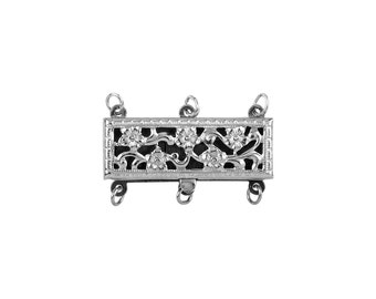 Multistrand Clasps 3 Line- Sterling Silver (#5060-3)