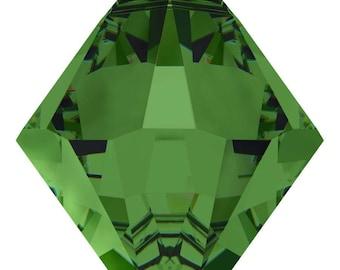 Swarovski Crystal - 6328 Bicone Top Drilled - Fern Green -  6mm, 8mm