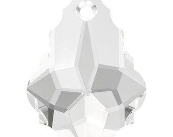 Swarovski Crystal Baroque Pendant Beads 6090 - 16.0x11.0 - Crystal Clear