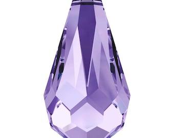 Swarovski Crystal - 6000 Tear Drop Top Drilled - Tanzanite 11 x 5.5mm, 13 x 6.5mm, 15 x 7.5mm