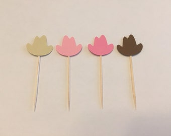 24 cowboy hat toothpicks, cowboy baby shower, cowgirl birthday, cowboy party, appetizer picks, food picks, cowboy cupcake toppers