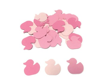 100 Pink Baby Ducky Confetti, Die Cut Ducky, Baby Shower Decor, Pink Baby Shower, Table Confetti, Shower Supply, Girl Shower, Duck Theme