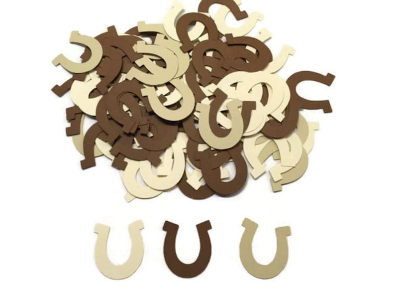 100 Assorted Horseshoe Confetti Die Cut Baby Shower Etsy