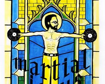 Sérigraphie / Guillaume Delamarche : Martial Jesus [Vie Sauvage 2014]