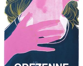 Sérigraphie / Ludivine Martin : Odezenne [Vie Sauvage 2014]