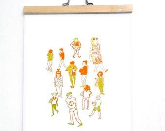 "Sérigraphie ""People"" / Marie Lou Duret"