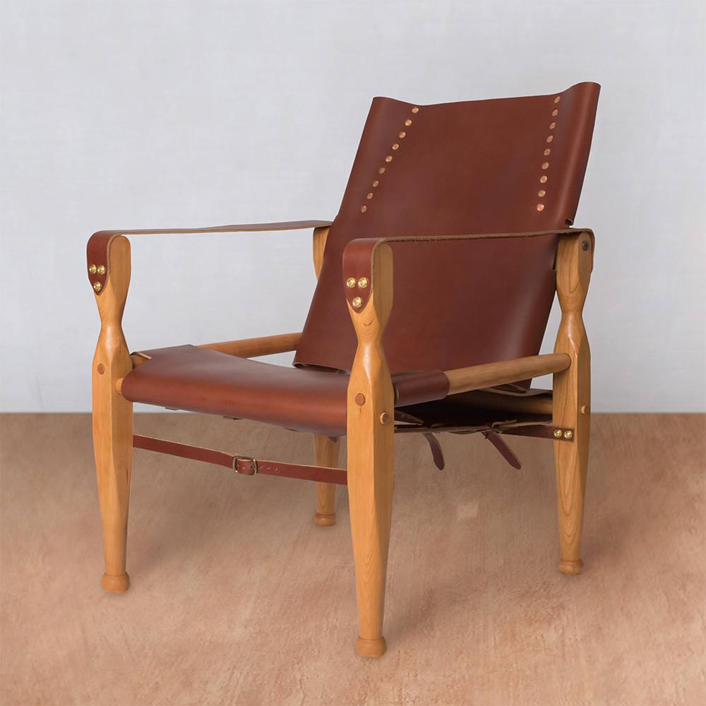 Safari Chair Leather Chair Lounge Chair Accent Chair Etsy