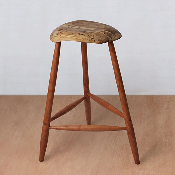 Pleasant Mid Century Modern Wood Stool Wooden Stool Bar Stool Kitchen Counter Barstool Esherick Custom Counter Height Vintage Music Guitar Camellatalisay Diy Chair Ideas Camellatalisaycom