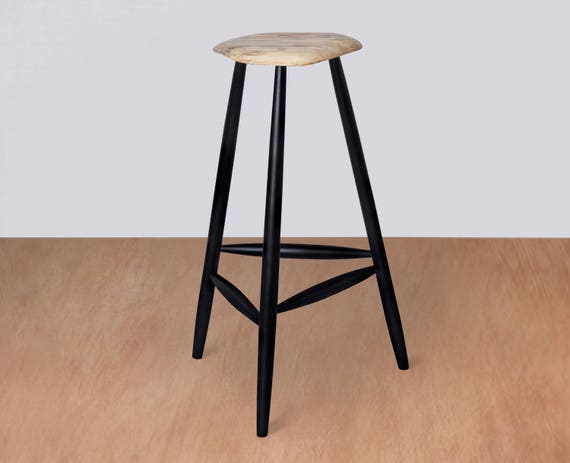 Excellent Mid Century Modern Wood Stool Wooden Stool Bar Stool Kitchen Counter Barstool Esherick Custom Counter Height Vintage Music Guitar Camellatalisay Diy Chair Ideas Camellatalisaycom