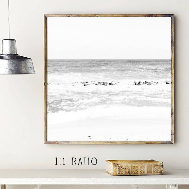 gray waves fine art prints printable water bw beach fine art wall hanging water art bw ocean photo black and white print ocean print