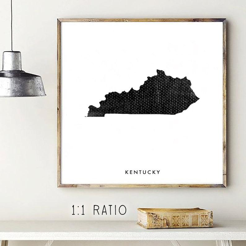 Printable Art Any Size Print Printable US Printable State Kentucky Map Loft Style Wall Collage Wedding gift United States Print 8x10