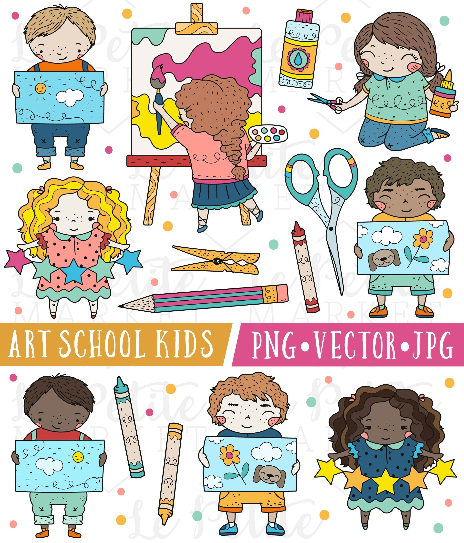 cute school kids clipart images cute school clip art art | etsy