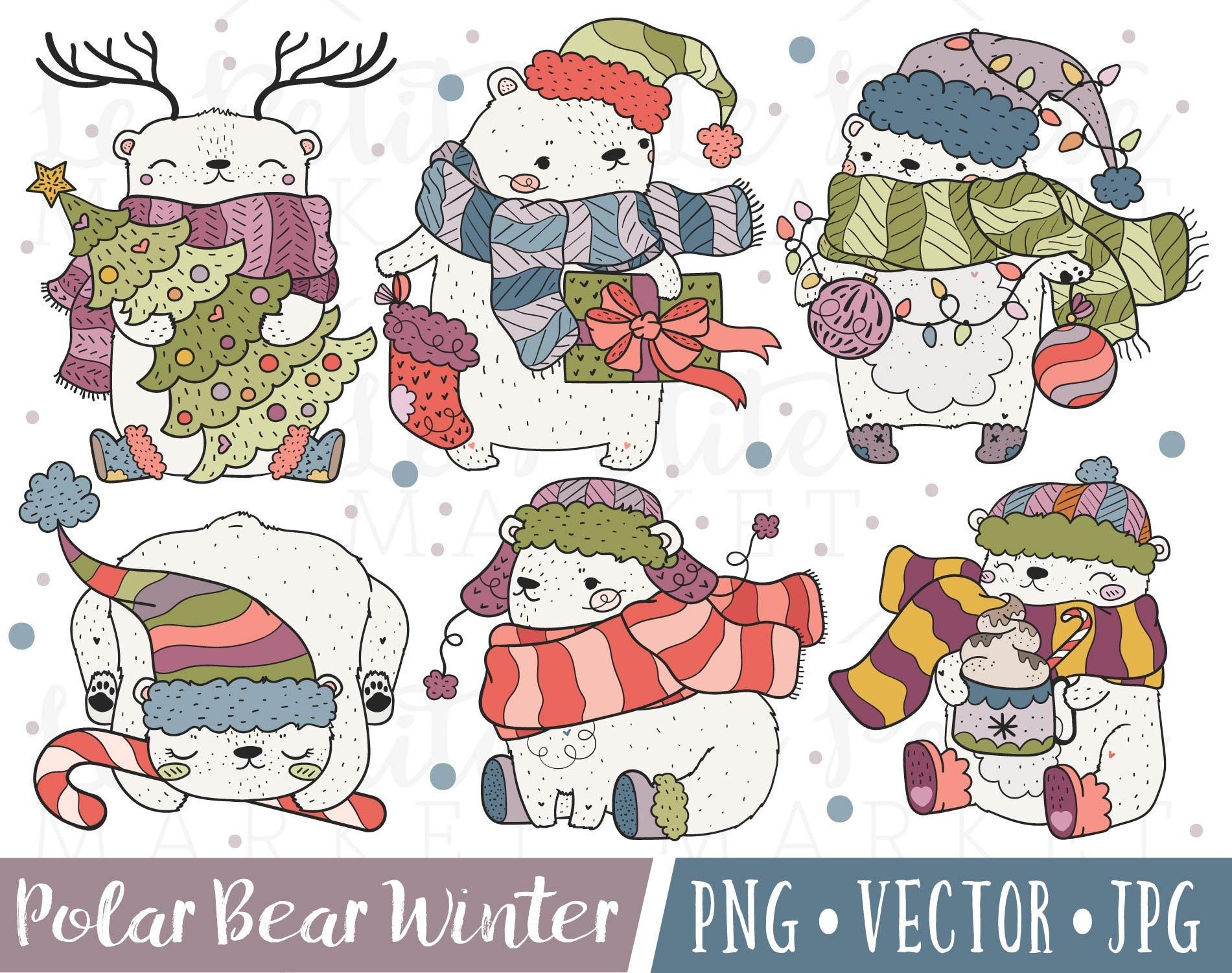 Cute Christmas Polar Bear Clipart Images Polar Bear Clip ...