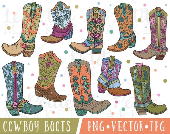 best deals on buy popular best authentic Cowboy Boot Clipart Cute Cowgirl Boot Clipart Cowboy Boot | Etsy